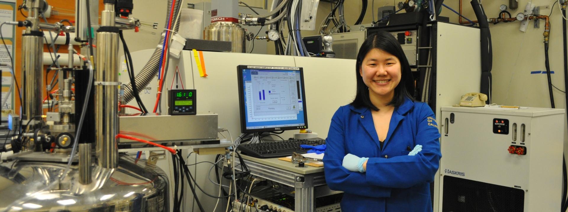 Jinny Sun in the Lab